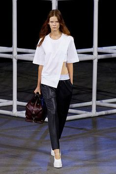 Alexander Wang - New York Spring 2014 Trend Report - two tone athletic