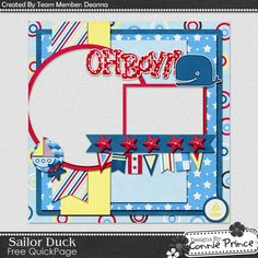 Scrapbooking TammyTags -- TT - Designer - Connie Prince, TT - Item - Quick Page, TT - Theme - Beach or Ocean