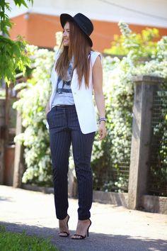 pffice pants with stripes by @kurtmann| Sandra Bendre