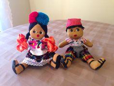 Set of 2 handmade Guatemalan dolls boy and girl by LosChapines, $20.00