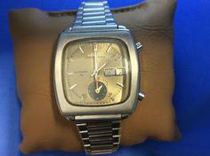 Seiko Monaco Ref. Chrono Vintage- Used Seiko Vintage, Vintage 70s, Monaco, Vintage Champagne, Square Watch, Chronograph, Clock, Watches, Stuff To Buy