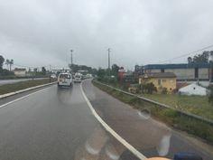 Com os motards de Pombal a fazerem escolta e a abrirem caminho no trânsito de Pombal até Leiria, a caravana missionária foi dando os primeiros passos