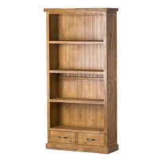 Union Rustic The natural finish of this Charette Bookcase adds an element of reclaimed character and reinforces the handmade beauty of these pieces while ensuring it will fit into any interior. Indian Furniture, Country Furniture, Find Furniture, Cheap Furniture, Discount Furniture, Kitchen Furniture, Luxury Furniture, 4 Shelf Bookcase, Shelves