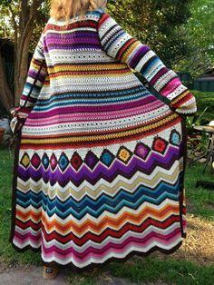 Abrigo multicolor