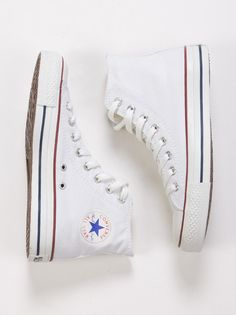 White Converse High Tops hey mom these top my Xmas list also