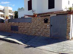 Cancela y reja en acero galvanizado. Tenerife