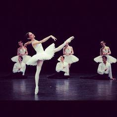 Dorothee Gilbert in Paris Opera Ballet's Suite en Blanc. Photo by Sebastien Mathe.