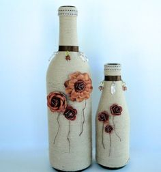 Ornimental Wine Bottle Accent by KelsysCharm on Etsy, $15.00