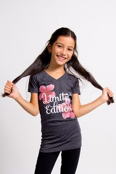 Floral Graphic Tee, Limited edition, Joshua Perets fashion clothing for girls and tweens