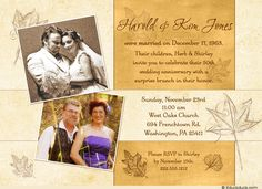 Autumn Golden 50th Anniversary Invitation