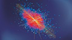 High-energy particle collision similar to those which may be giving us a glimpse of a new ...