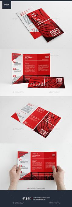 Simple Red Trifold - Brochure Print Template InDesign INDD. Download here: http://graphicriver.net/item/simple-red-trifold/12240719?s_rank=1710&ref=yinkira