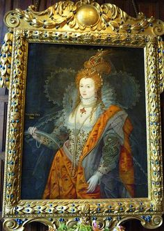 The 'Rainbow Portrait' of Queen Elizabeth I at Hatfield House.