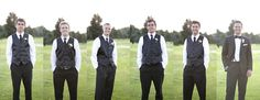 Individual pics of the groomsmen... then landscaped!