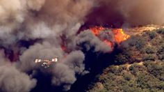 Aerial Images: Fire Makes Path Toward Structures in Cajon Pass | NBC Southern California - #16Aug16 #BlueCutFire in the #SBNationalForest in #SanBernardinoCo #California
