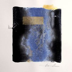 """Ayana Mizuno  """"Water section"""" Acrylic and watercolor on paper  #abstract #landscape #mind #water #minimal #new #artwork #drawing #art #watercolor #painting #acrylic #now #kunst #arte #artist #blue #gold #design #picture #instart #follow #color #sketch #modernart #gallery #fashion #illustration #contemporaryart #アート"""