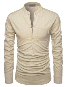 d14bee9ddb Doublju Men's Casual Long Sleeve Double Button Dress Shirt WHITE ...