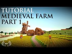 Minecraft - How to Build a Medieval Farm (Part 1/3) - YouTube