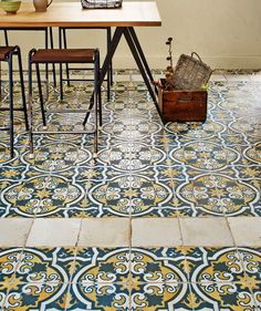 Another option. Hallway statement tiles