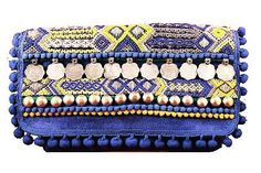 Iris and Yellow Gypsy Clutch from India by Olivia Dar  http://www.shoplatitude.com/collections/insta-summer/products/iris-and-yellow-gypsy-clutch