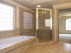 Modern Bathroom, Stand-up Shower