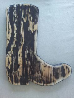 "10"" Handmade Decorative Wooden Cowboy Boot-Brown Distressed by askmeifiwood, $12.00"