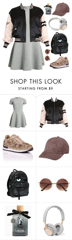 """Ease My Mind"" by delightdandelion ❤ liked on Polyvore featuring Superdry, Moschino, Vianel, Torrid, B&O Play, backpack, MyStyle, bomberjacket, cap and bomber"