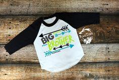 Big Brother Shirt, Sibling Shirt, Big Brother Announcement Shirt, New Baby Announcement Shirt, Family Photo, Big Boy, Raglan Shirt by RagTine on Etsy