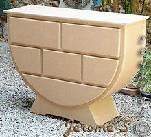 Jerome's cardboard chest of drawer Diy Cardboard Furniture, Cardboard Design, Funky Furniture, Plywood Furniture, Furniture Design, Cardboard Playhouse, Cardboard Paper, Cardboard Crafts, Karton Design