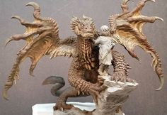 Paint job progress on Talula and the Stray. #shiflettbrothers #shiflettbros #resinkit #dragons #dragon