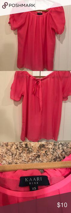 Kaari Blue hot pink blouse size XS Kaari Blue hot pink blouse size small kaari blue Tops Blouses