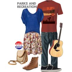 My creation inspired by April Ludgate and Andy Dwyer from the hit comedy series Parks and Recreation.