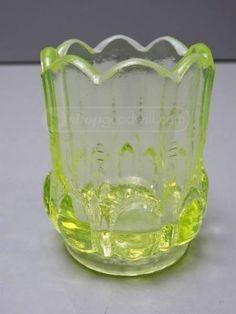 shopgoodwill.com: Boyd's Vaseline Glass Salt Dip Toothpick Holder #boyds #vaseline #glass #vintage