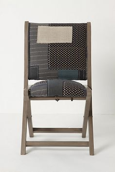 Terai Chair, Boro    Inspired by traditional indigo-dyed Japanese quilts.    Anthropologie.com exclusive