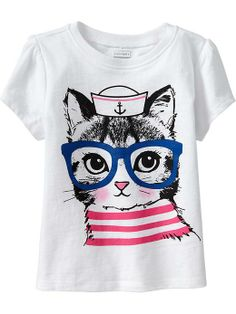 Cap-Sleeve Graphic Tees for Baby Product Image