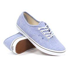 4a1c95d765 Vans Women s Authentic Lo Pro (Chambray Blue True White) Women s Shoes  Vans
