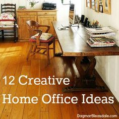 Here are my 12 favorite creative home office ideas. They are not only creative designs -- these offices also inspire you to be creative in your home office! Small Space Office, Home Office Space, Office Spaces, Br House, Decoration Inspiration, Inspiration Boards, Interior Decorating, Interior Design, Modern Interior