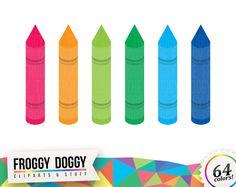 Crayons Clipart, Pencils Clipart, Colored Pencils Clipart, Drawing Clipart, Planner Clipart, Scrapbooking Cliparts