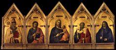 Giotto, Badia Polyptych, c. 1310, Florence, Galleria degli Uffizi.