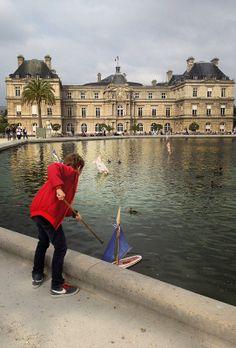 jardin du luxembourg . grand bassin . paris
