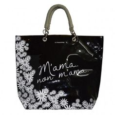 Le Pandorine Sail Bag shopping bag made of see-through PVC, with double rope handles.