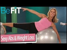 Sexy Abs & Weight Loss Stability Ball Workout: Denise Austin - YouTube