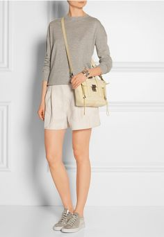 Phillip Lim - The Pashli mini textured-leather trapeze bag