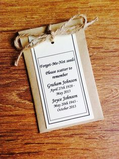 10 Personalised Forget Me Not Seed Funeral Memorial Remembrance Favour Gift In Memory Of Dad, In Loving Memory, Funeral Planning, Funeral Ideas, Funeral Quotes, Forget Me Not Seeds, Remembering Dad, Mom Poems, Funeral Memorial