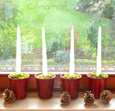 Adventskerzen in Bloomingville Töpfe Cinnamon Home