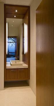 powder room | 894330_0_8-4927-modern-powder-room.jpg.  Coloration du bois pour vanité salle de bain du r de c...