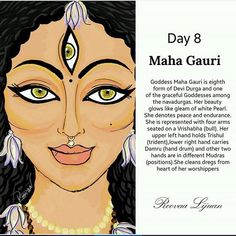 Maa Maha Gauri Nav Durga 8 th Day Hawan Ashtami Nav Ratri Utsav 2016 Kali Goddess, Indian Goddess, Durga Maa, Shiva Shakti, Hanuman, Durga Painting, Navratri Images, Navratri Quotes, Durga Images