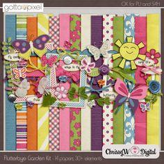 Flutterbye Garden Kit :: Gotta Pixel Digital Scrapbook Store
