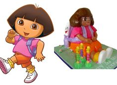 10 Hilariously Bad Character Cakes - Dora doesn't need a map to get away from that cake fail. Via:dora.wikia.com