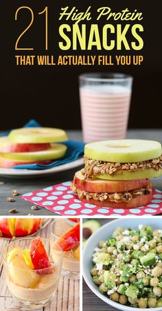 21 High-Protein Snacks To Eat When You're Trying To Be Healthy 21 H. - 21 High-Protein Snacks To Eat When You're Trying To Be Healthy 21 High-Protein Snack - Healthy Protein Snacks, Healthy Drinks, Keto Snacks, Low Carb High Protein Recipes Snacks, Protein Filled Foods, High Protein Snacks On The Go, High Fiber Snacks, High Protein Dinner, Healthy Filling Snacks